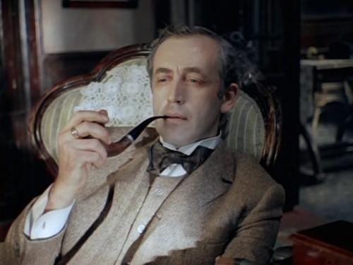 Шерлок Холмс, кадр из фильма Приключения Шерлока Холмса и доктора Ватсона