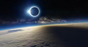 Снимок Земли и Солнца из космоса