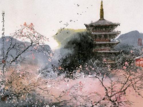 Картина с изображением пейзажа в Китае