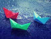 Цветные кораблики из бумаги