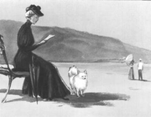 Иллюстрация к рассказу Дама с собачкой
