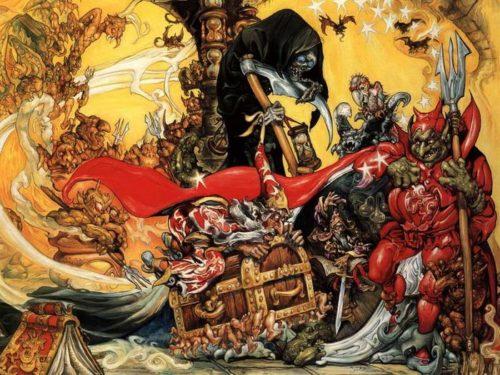 Иллюстрация Джоша Кирби к роману Цвет волшебства Терри Пратчетта