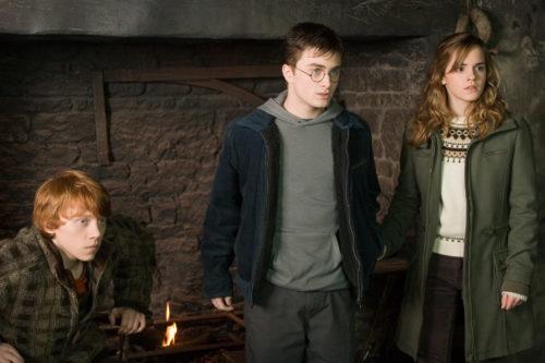 Рон, Гарри Поттер и Гермиона, кадр из фильма