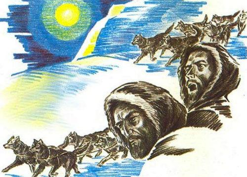 Иллюстрация к произведению Джека Лондона Белый клык