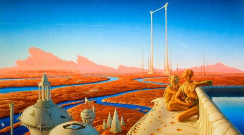 Иллюстрация к книге Марсианская хроника