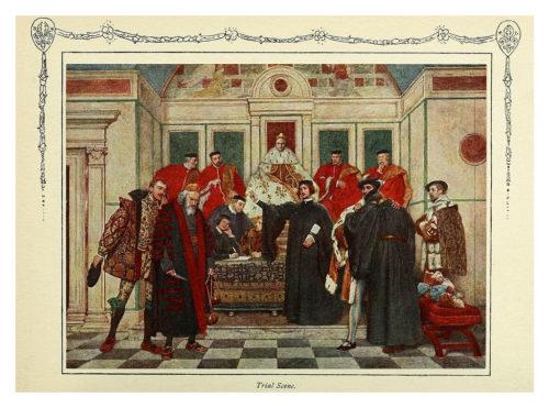 Иллюстрация к комедии Венецианский купец