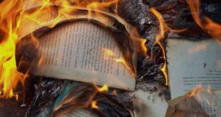 Горящие страницы книги