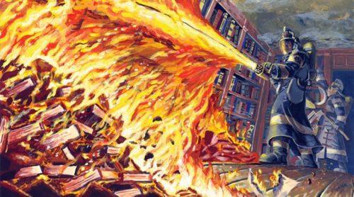 Иллюстрация к книге 451 грудус по Форенгейту