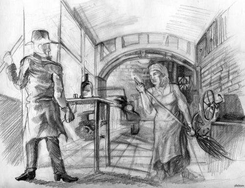 Иллюстрация к роману Три товарища