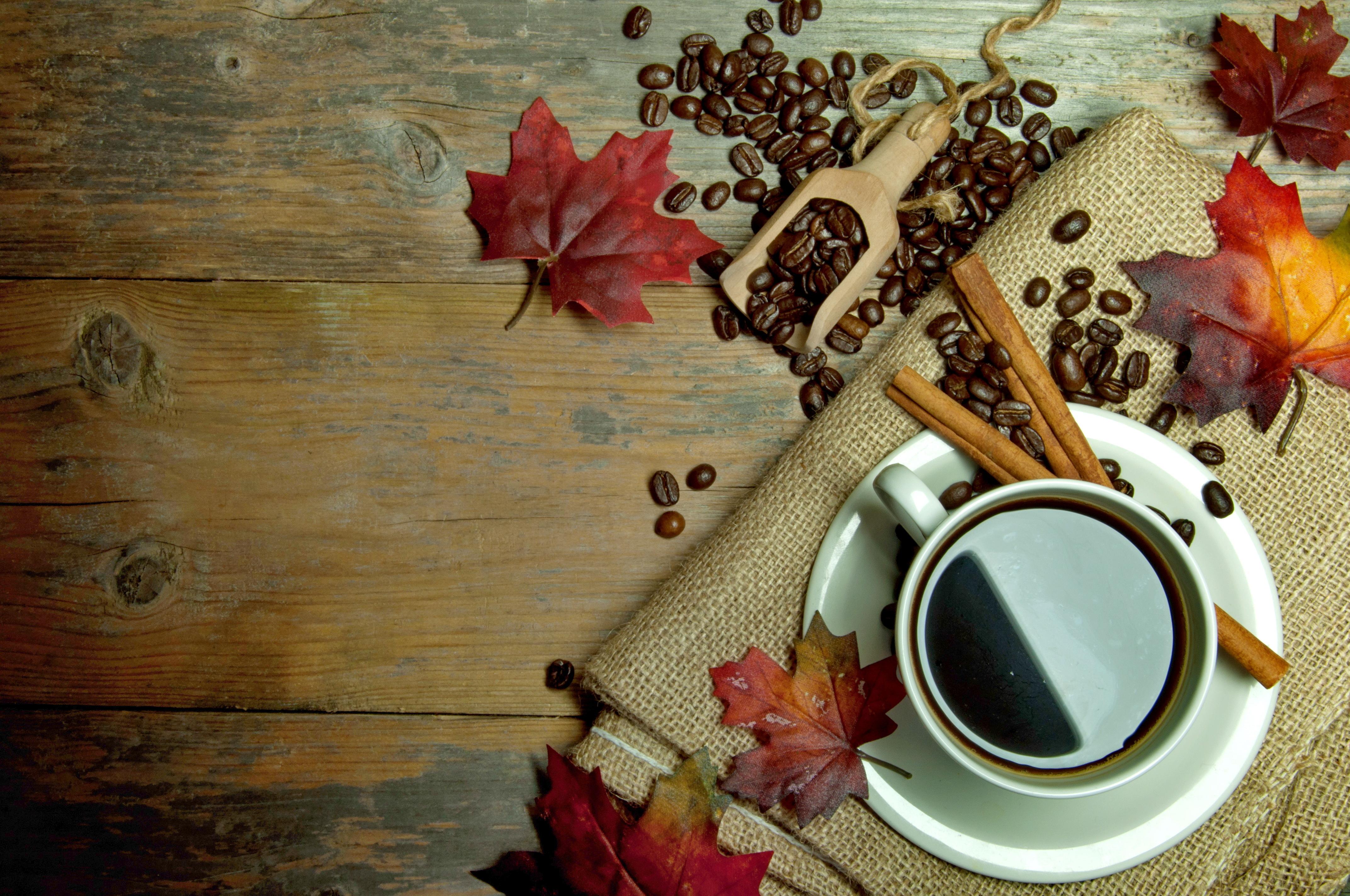 Кофе осенью фото