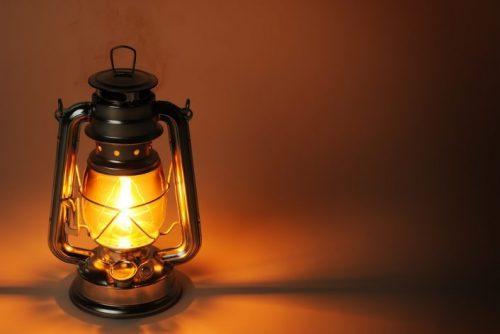 Горящий светильник