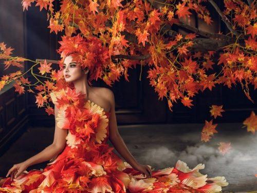 Осенняя девушка